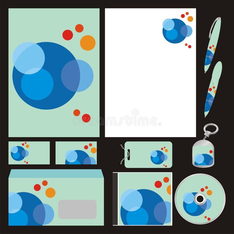 Volledig editable vector bedrijfsmalplaatjes geplaatst klaar vector illustratie