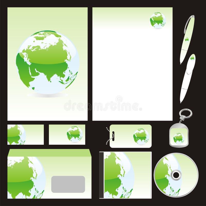 Volledig editable vector bedrijfsmalplaatjes geplaatst klaar royalty-vrije illustratie