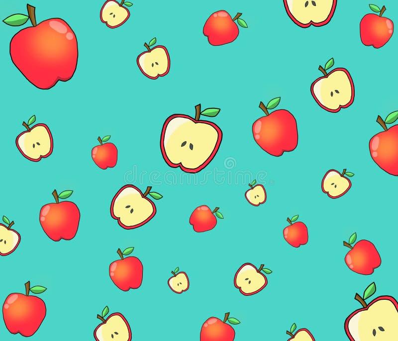 Volledig en half Apple-patroon royalty-vrije stock afbeelding