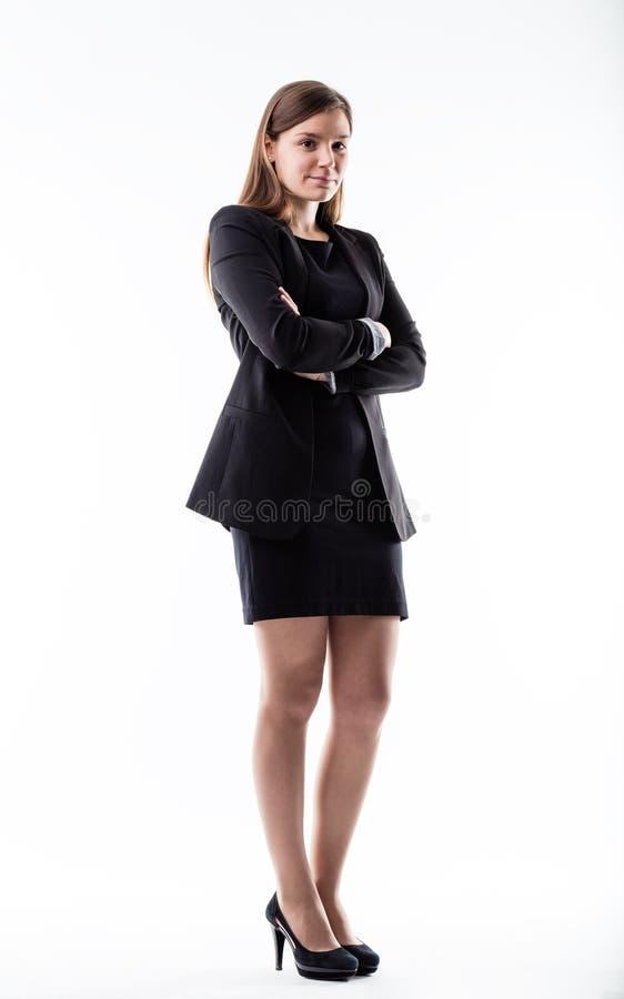 Volledig geschoten portret van een bedrijfsvrouw stock foto's