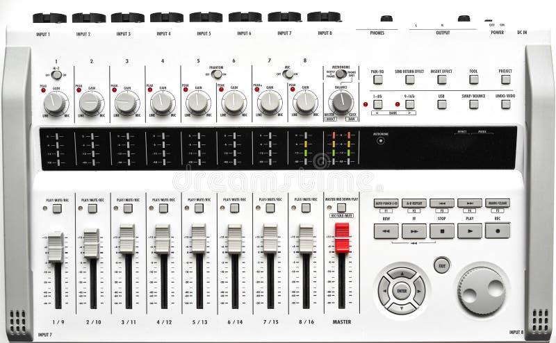 Volledig - grootte draagbare digitale Correcte mixer royalty-vrije stock afbeeldingen