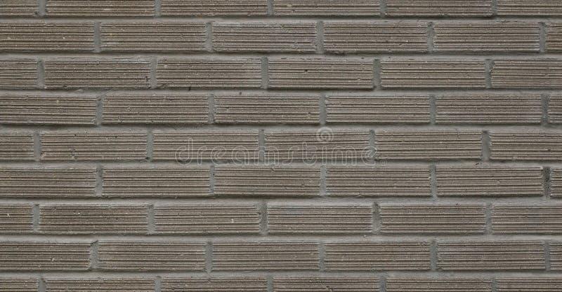 Volledig kaderbeeld van grijze decoratieve bakstenen muur, de bouwbuitenkant Hoge resolutie naadloze textuur stock foto