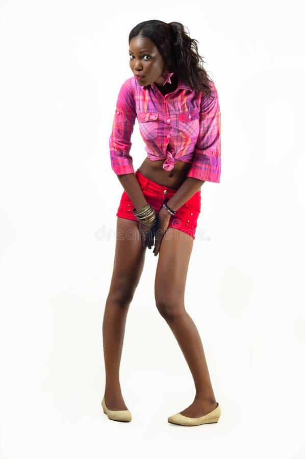 Volledig Lengte Modelmeisje Royalty-vrije Stock Foto