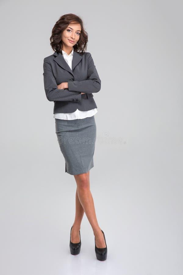 Volledig lengteportret van bedrijfsvrouw stock foto
