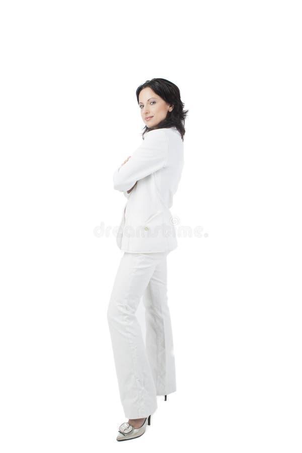 Volledig lengteportret van een bedrijfsvrouw royalty-vrije stock afbeeldingen