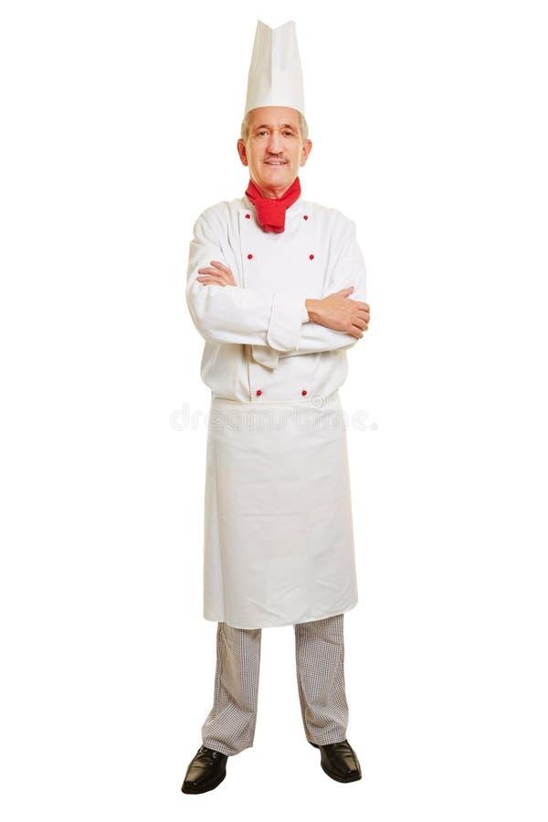 Volledig lichaamsschot van chef-kokkok stock afbeelding