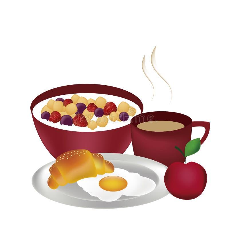 Volledig ontbijt vector illustratie