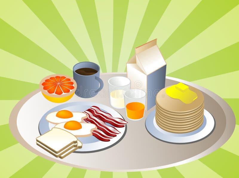 Volledig ontbijt stock illustratie
