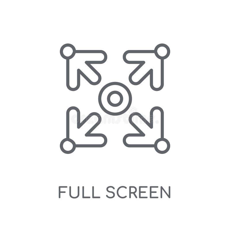 Volledig scherm lineair pictogram Modern het embleemconcept van het overzichtsvolledige scherm royalty-vrije illustratie