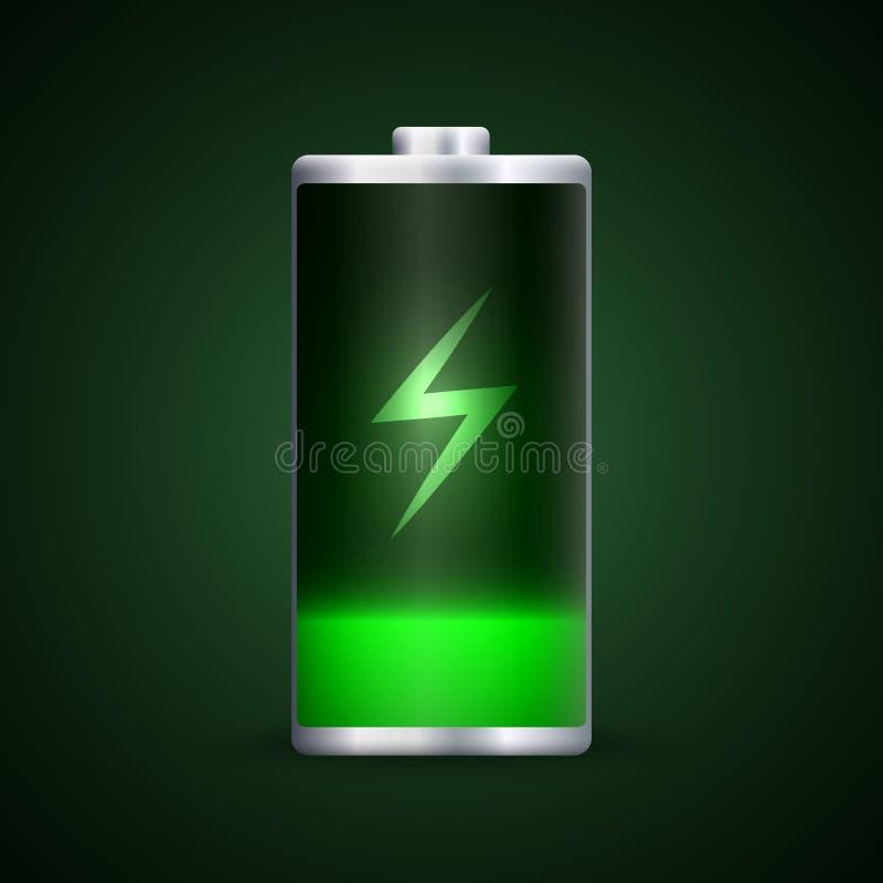 Volledige energieacculading stock illustratie