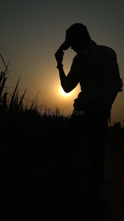 Volledige hd van het zonsondergang mobiele behang royalty-vrije stock afbeelding
