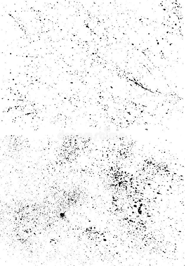 Volledige inktvlekken vector illustratie