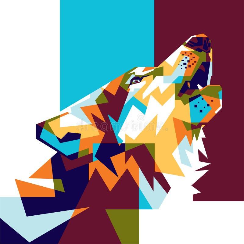 Volledige Kleur Wolf Background royalty-vrije stock afbeelding
