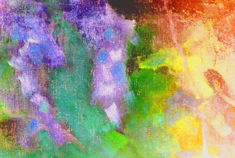 Volledige kleurensamenvatting stock illustratie