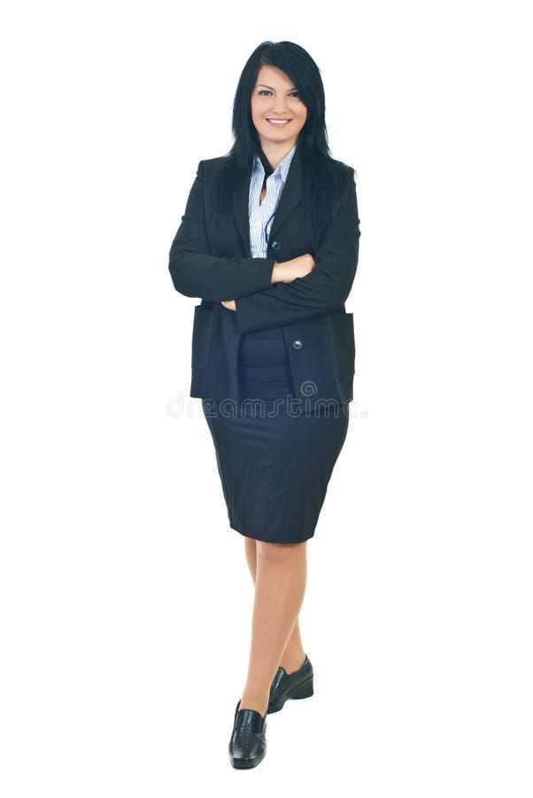 Volledige lengte bedrijfsvrouw stock afbeeldingen