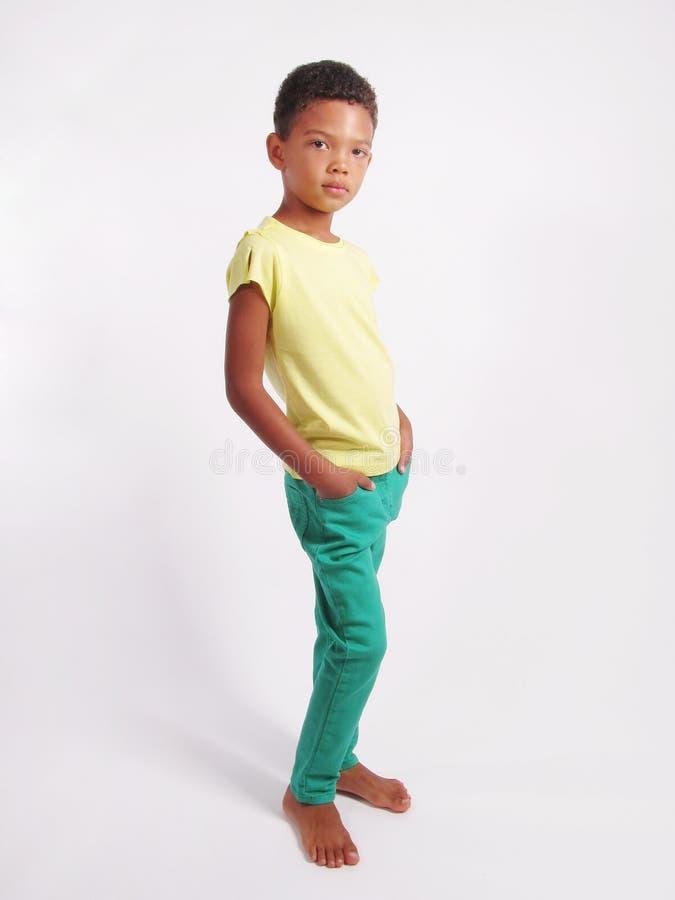 Volledige lengte van een jongen stock afbeelding
