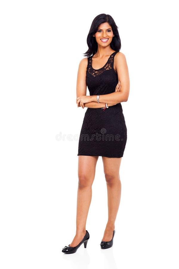 Glimlachende Indische onderneemster stock foto