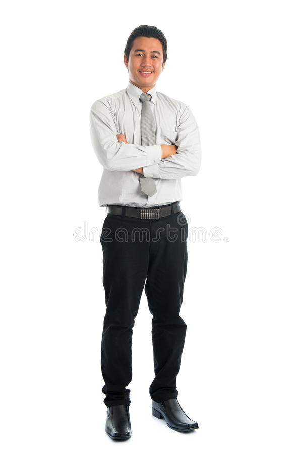 Volledige lichaams Aziatische mens stock foto