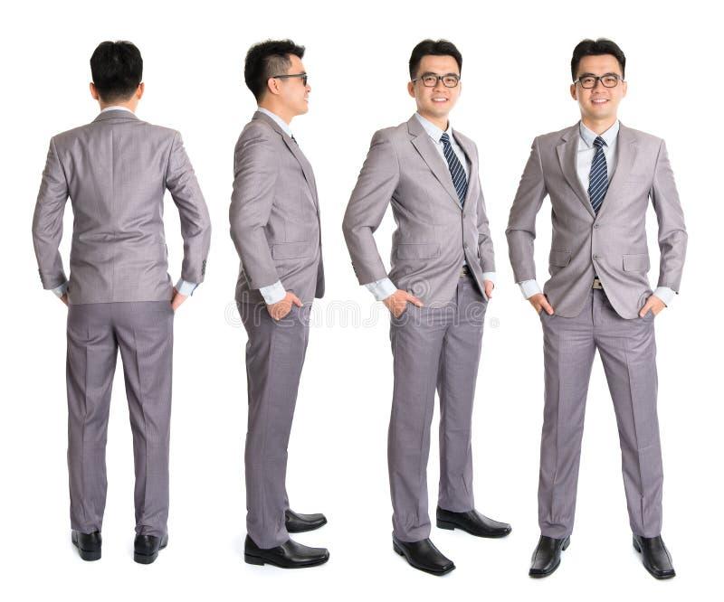 Volledige lichaams Aziatische zakenman royalty-vrije stock foto