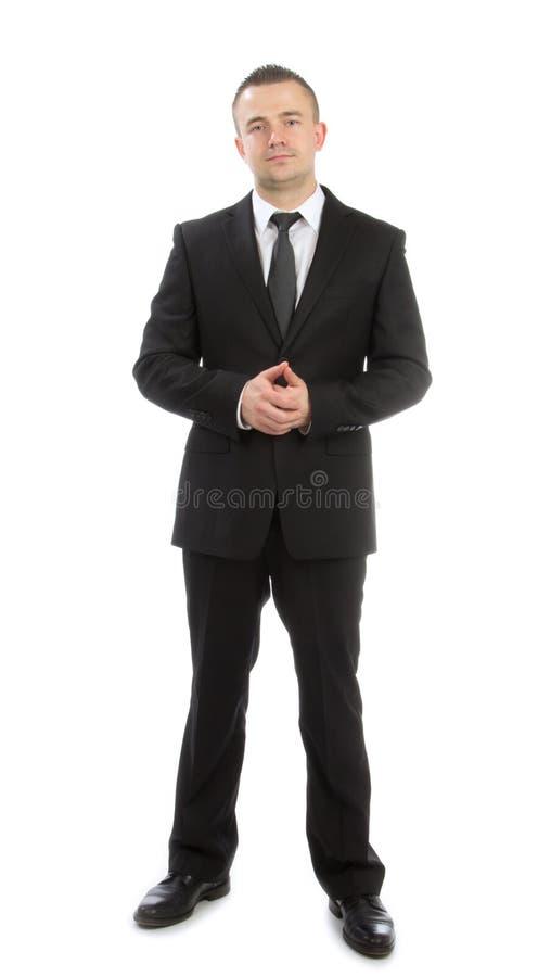 Volledige lichaams bedrijfsmens stock foto's