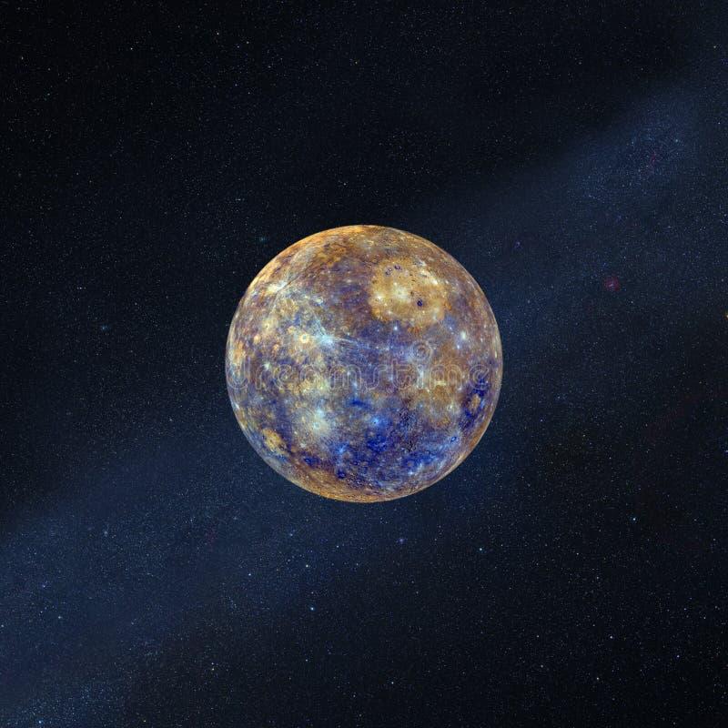 Volledige super maan met sterren in kosmische ruimte Elementen van dit die beeld door NASA wordt geleverd royalty-vrije illustratie