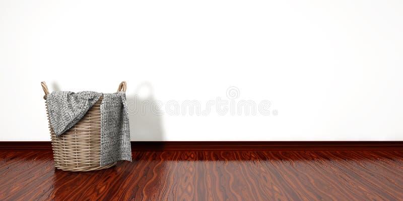 Volledige Wasmand Het concept van het huishoudenkarwei stock illustratie