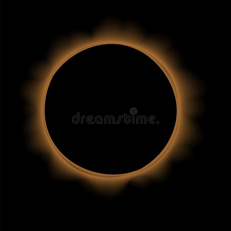 Volledige zonneverduistering stock illustratie