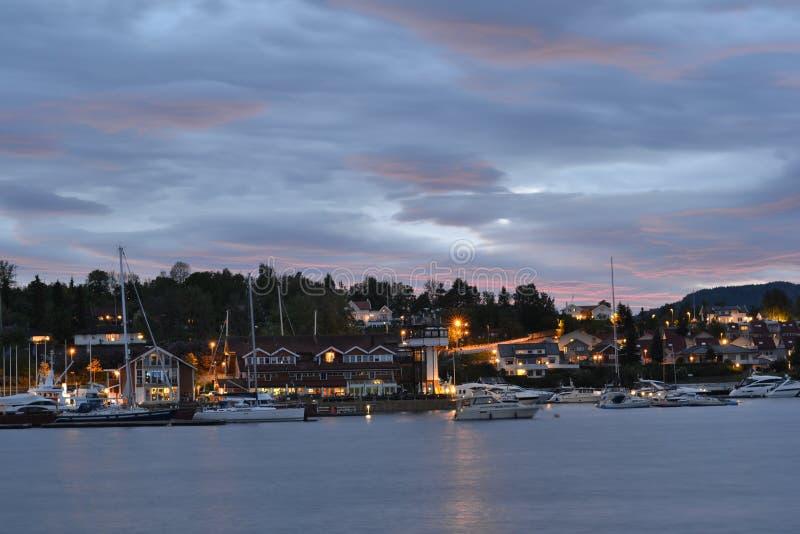 Vollen fjärd, Norge royaltyfri foto