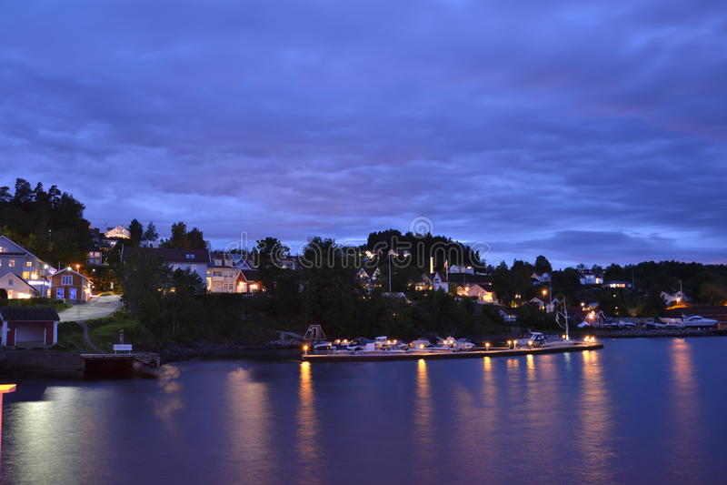 Vollen fjärd, Norge royaltyfria foton