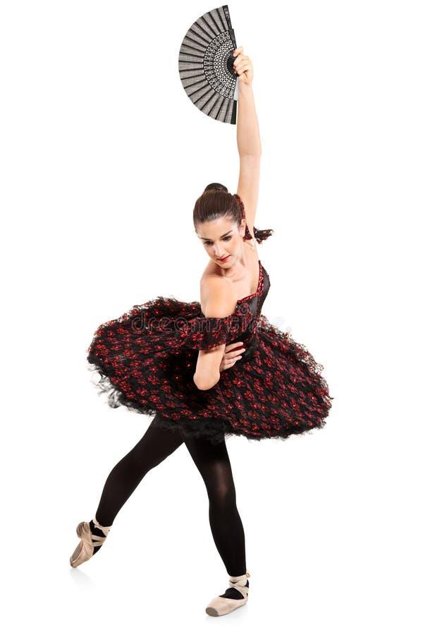 In voller Länge Portrait eines Ballerinatänzers stockfoto