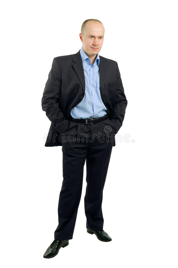 In voller Länge Portrait eines Geschäftsmannes lizenzfreie stockfotos