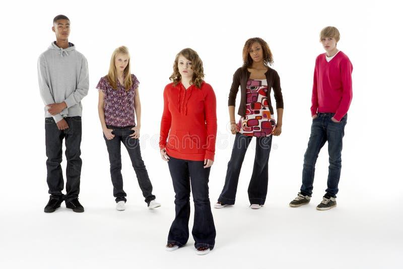 In voller Länge Studio-Portrait Jugendfreunds fünf lizenzfreies stockfoto
