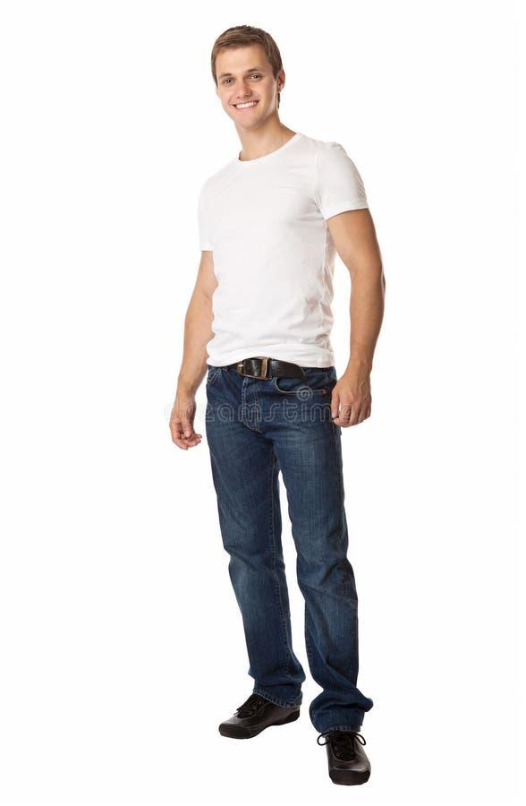 In voller Länge von einem netten jungen Mann lizenzfreies stockfoto