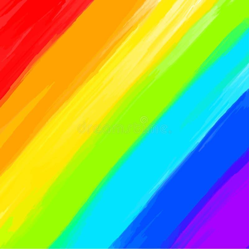 Voller Regenbogen farbige Hintergrundanschläge lizenzfreie abbildung