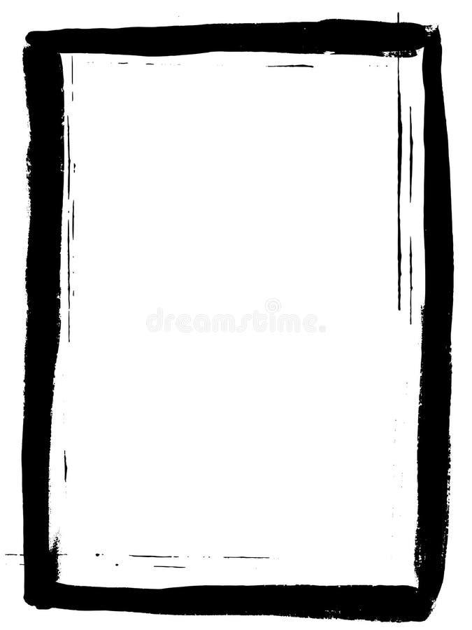 Voller schwarzer gemalter Rand stock abbildung