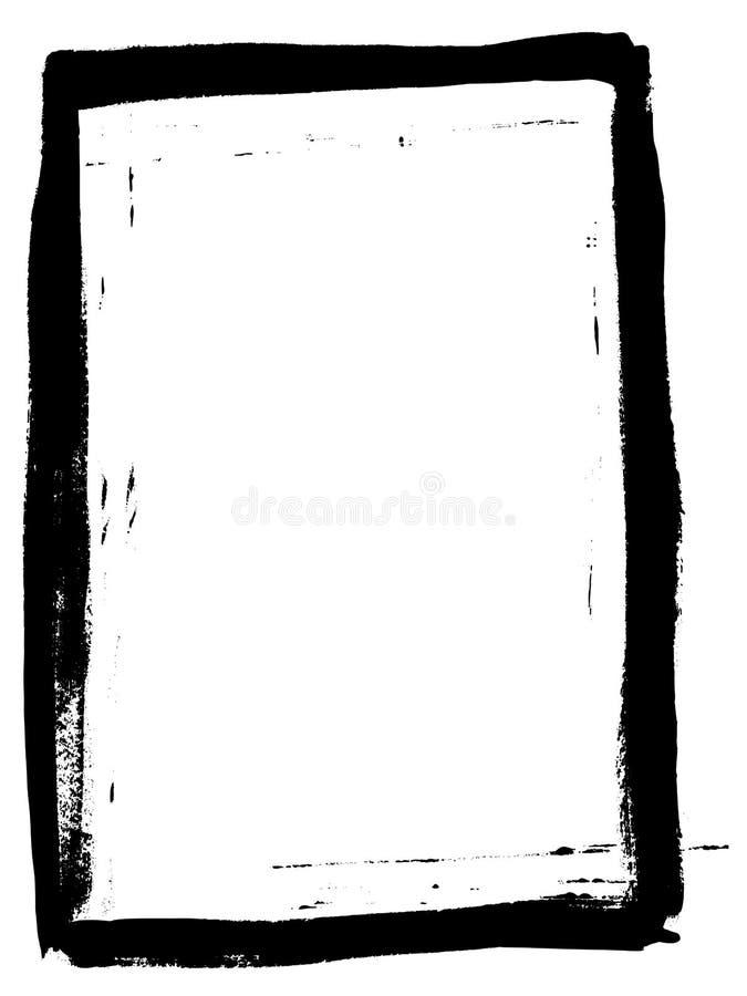 Voller schwarzer gemalter Rand 4 lizenzfreie abbildung