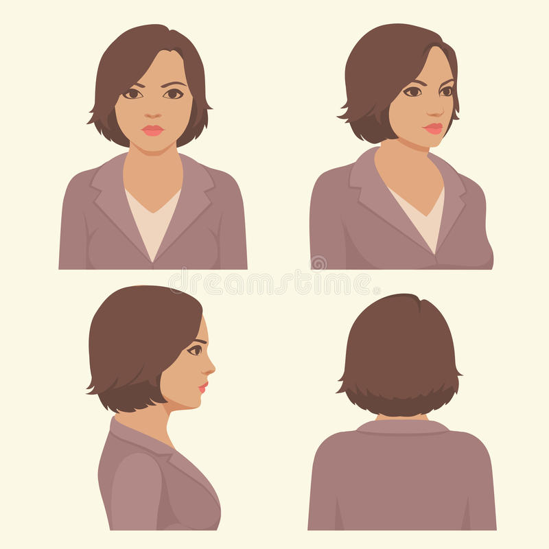 Volles Gesicht und Profilkopf lizenzfreie abbildung