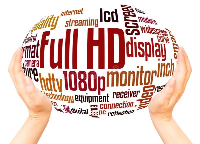 Volles HD-Wortwolkenhandbereichkonzept lizenzfreies stockfoto