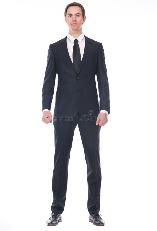 Volles Körperporträt eines Geschäftsmannes lizenzfreies stockbild