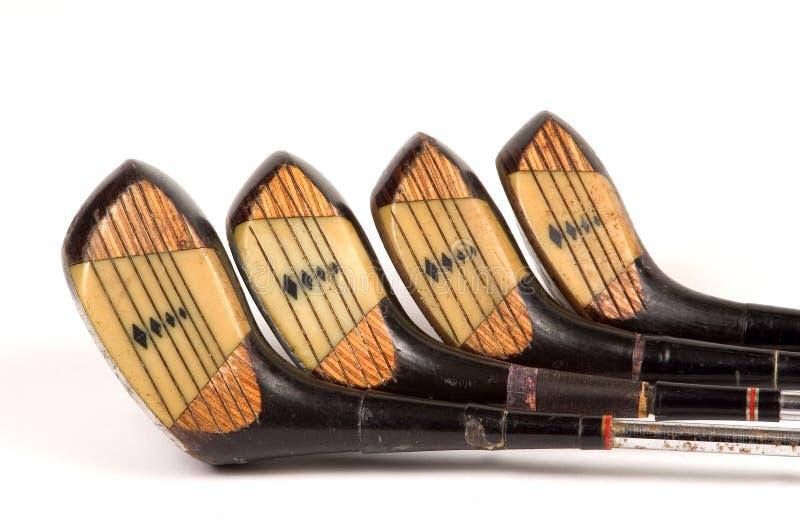 Volles Set lamelliertes Golfholz lizenzfreie stockbilder