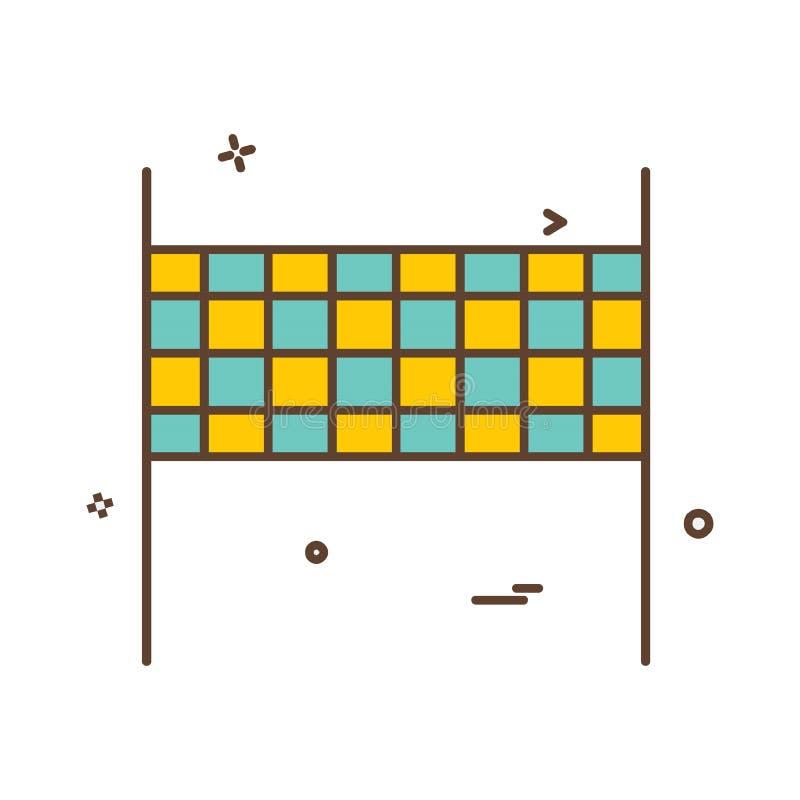 Volley διάνυσμα σχεδίου εικονιδίων σφαιρών ελεύθερη απεικόνιση δικαιώματος