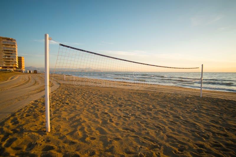 Volley παραλιών καθαρό στοκ εικόνες