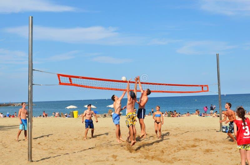 Volley παραλιών στοκ φωτογραφία με δικαίωμα ελεύθερης χρήσης