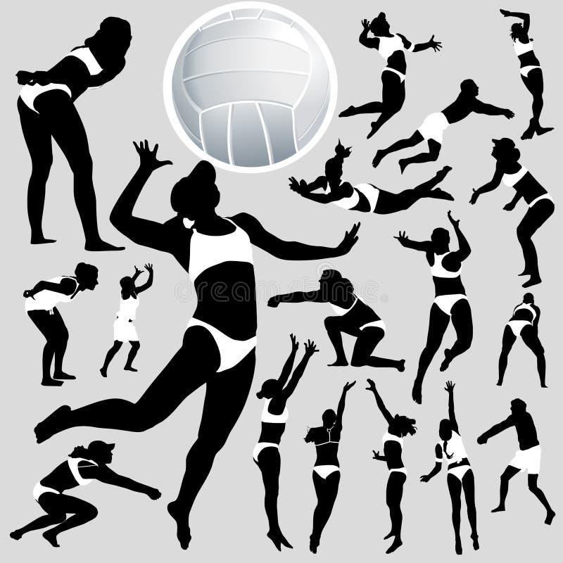 volley παραλιών διανυσματική απεικόνιση