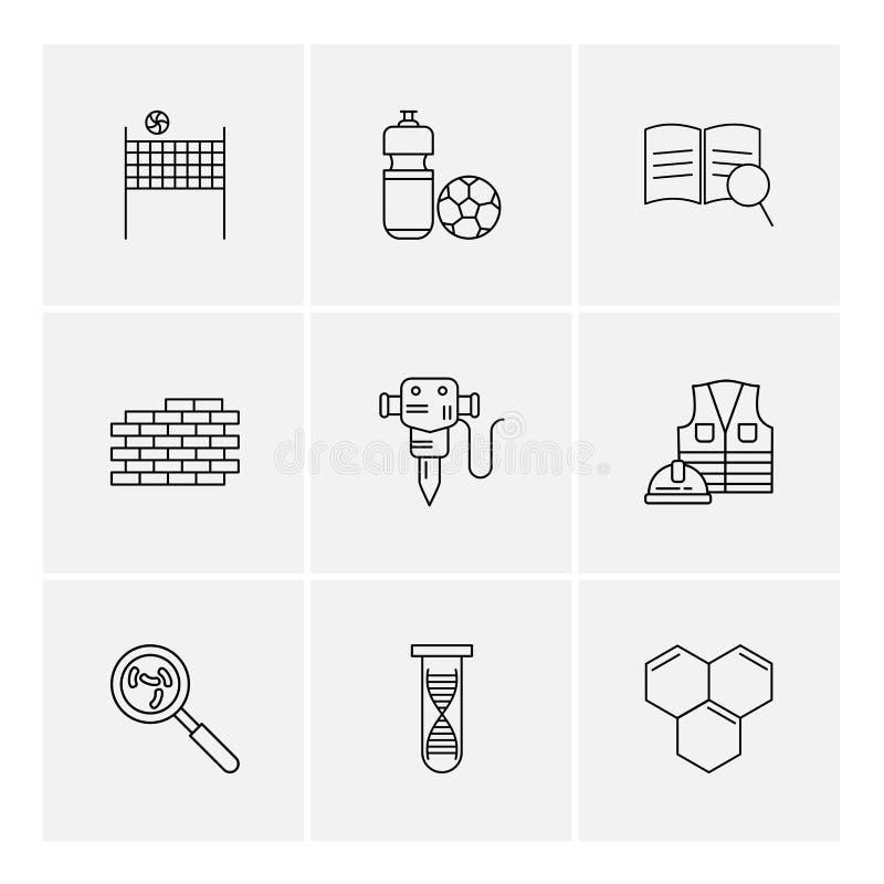 volley σφαίρα, καθαρή, σφαίρα, τούβλα, τοίχος, κομπρεσέρ, εργασία, διανυσματική απεικόνιση