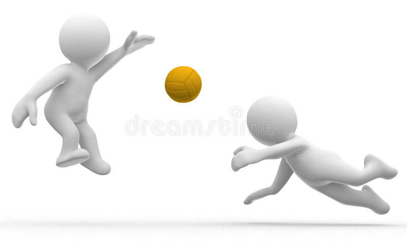 Volley stock illustration