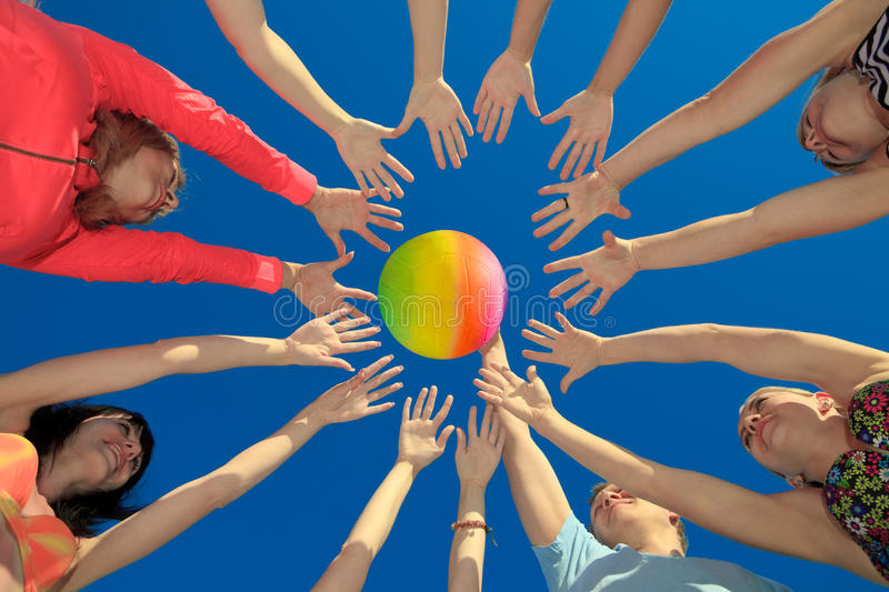Download Volley ball stock photo. Image of several, beach, summer - 20285408