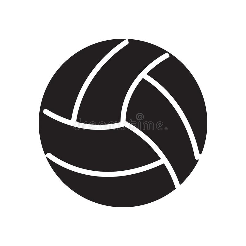 Volley ball icon vector sign and symbol isolated on white background, Volley ball logo concept vector illustration
