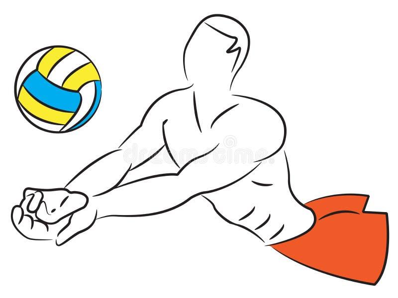 Volley Ball - Men Royalty Free Stock Photos