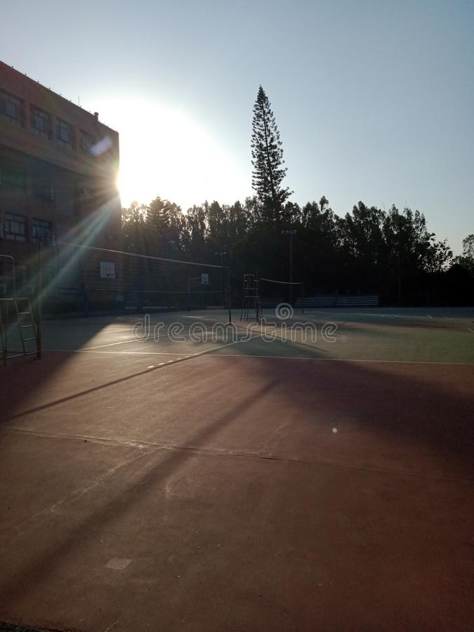 Volley ball and sunshine royalty free stock images
